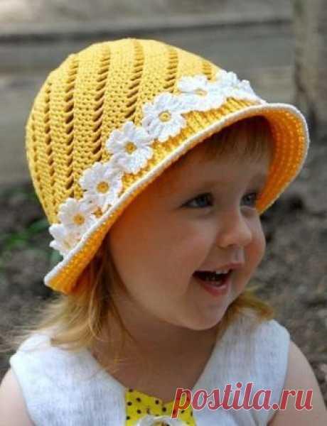 Детская панамка крючком, схема / Вышивание крестиком - схемы вышивки для начинающих, картинки / КлуКлу. Рукоделие - бисероплетение, квиллинг, вышивка крестом, вязание