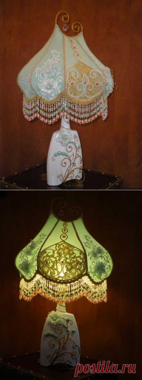 (+1) тема - Делаем невероятно красивый светильник из бутылки. Мастер-класс. | Хвастуны и хвастушки