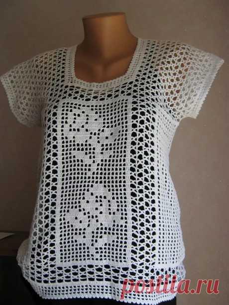 рубашка женская крючком филейное вязание: 10 тыс изображений найдено в Яндекс.Картинках
