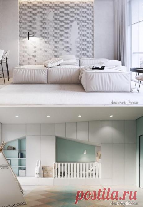 Проект дизайна квартиры WHITE BREATH в Днепропетровске | domcvetnik.com