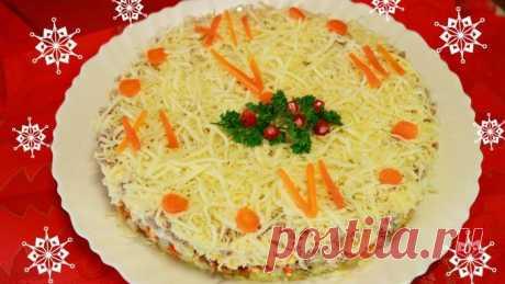 Новогодний салат «Куранты» - рецепт с фото