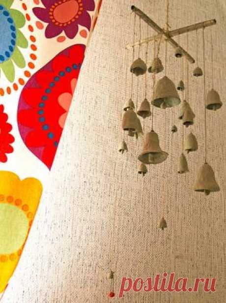 Глиняные колокольчики - Музыка ветра (фэн-шуй) - купить | Handmade-базар | HANDMADE интернет-магазин