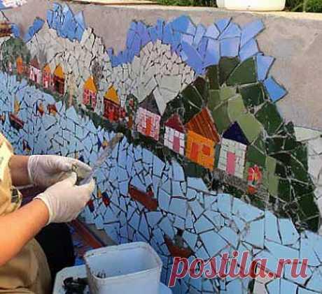Заборы для дачи: фото 40 красивых заборов с мозаикой - Дача Своими Руками