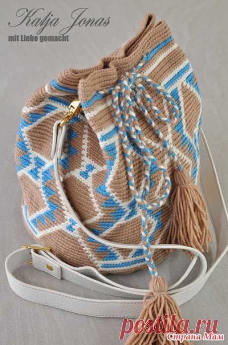 .sumka Wetted (online \/ MK) - All in openwork... (knitting by a hook) - the Country of Mothers