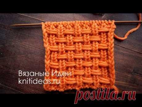 Шикарный плетеный узор спицами.     Вязаные       Идеи.