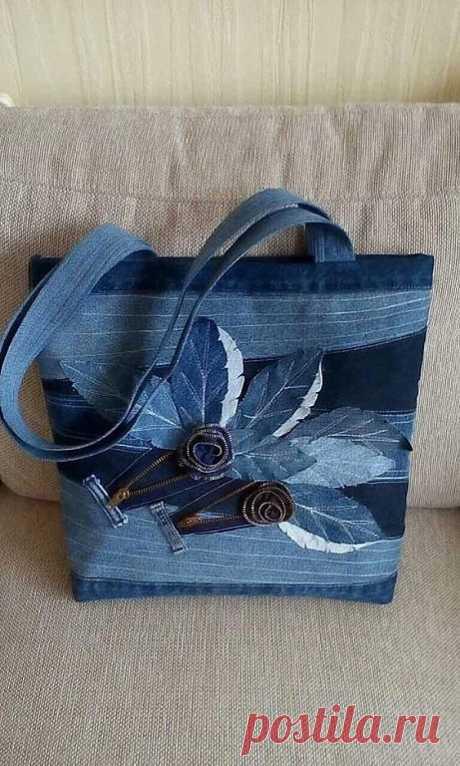 Джинсовые сумки всегда в тренде! Идеи и выкройки для шитья своими руками.