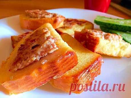 Простой завтрак, перекус из простых продуктов!..