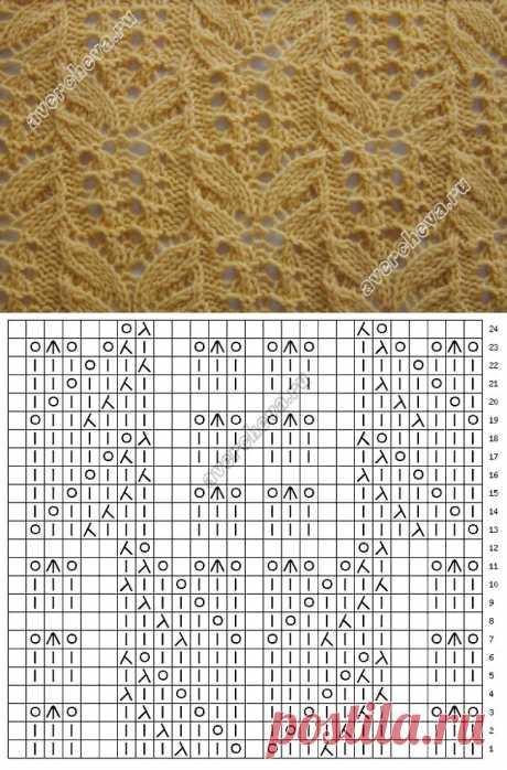узор 240 еще одна японочка- бабочка | каталог вязаных спицами узоров