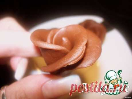 Шоколадная мастика и розочки из неe Кулинарный рецепт