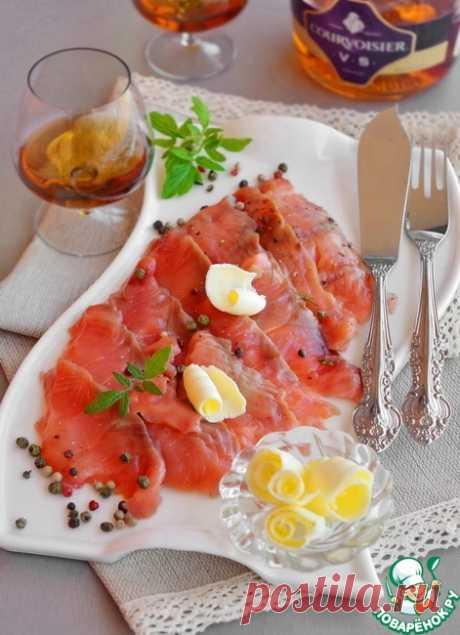 Горбуша солёная с коньяком – кулинарный рецепт