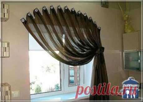 Креативные способы повесить штору без карниза