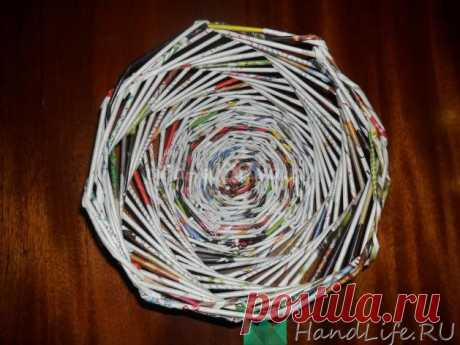 Lesson 1, we twist tubules from newspapers (video) \/ Weaving from newspaper tubules