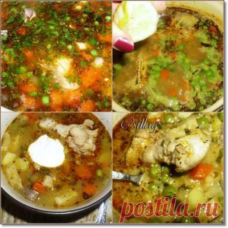 Курино-овощной густой суп (Венгерская кухня)