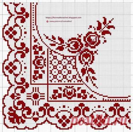 Схемы вышивки для красивых уголочков салфеток