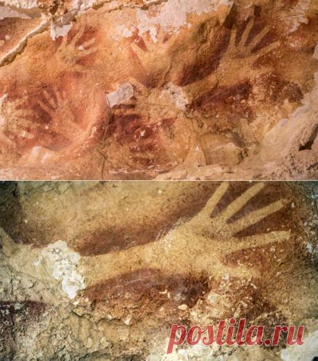 Наскальная живопись в индонезийской пещере   Мир тайн