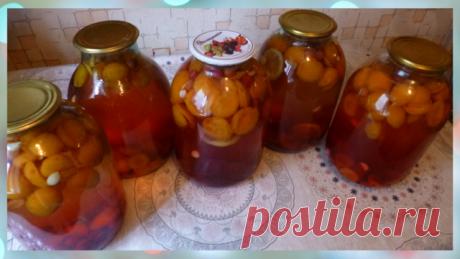 Компот абрикосы, лимон , вишня, ядра косточек – пошаговый рецепт с фотографиями