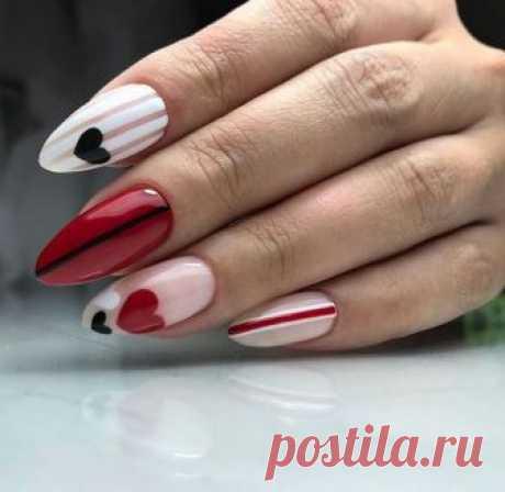 Дизайн ногтей на День Валентина 2019: ТОП-14 фото-идей, модный маникюр на 14 февраля