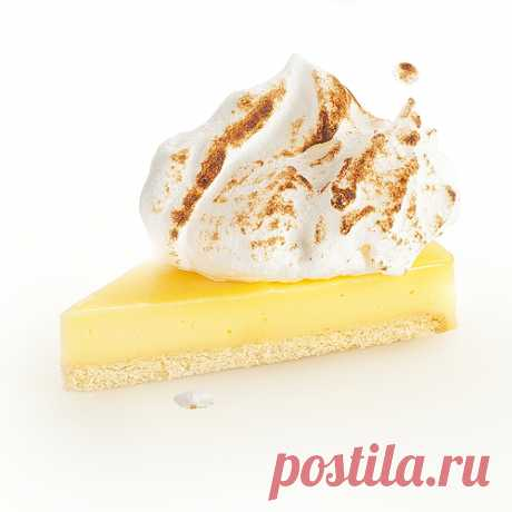 Classical lemon tart with proteinaceous cream — Tasty recipes
