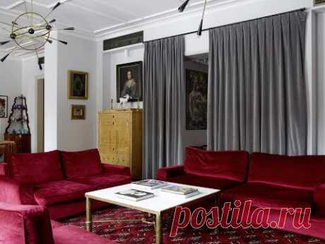 Самобытный текстиль и Московский уют в интерьере квартиры Александры Вертинской