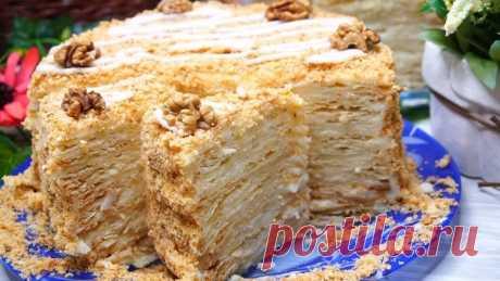 Наполеон со вкусом Мороженого или Пломбирный торт Наполеон. Пеку его только по праздникам!