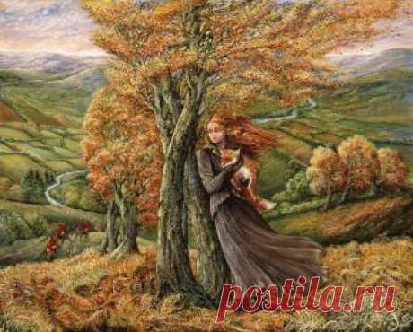 Распутная дремала осень...Живопись Жозефины Уолл.
