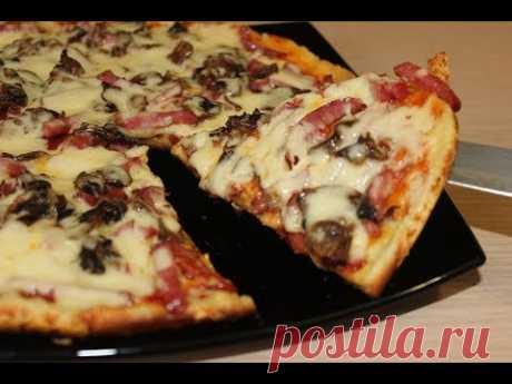 Пицца на сковороде -готовится очень быстро!