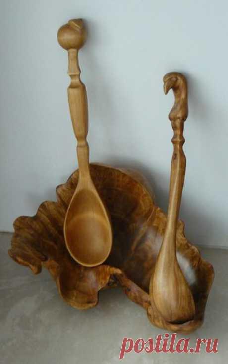 Работа Сергея Байкова  #spoons #carving #ложка #резьба #magicspoon [Клуб любителей Волшебных ложек)