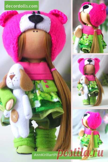 Cloth Art Rag Doll Beautiful Winter Doll Handmade Tilda | Etsy