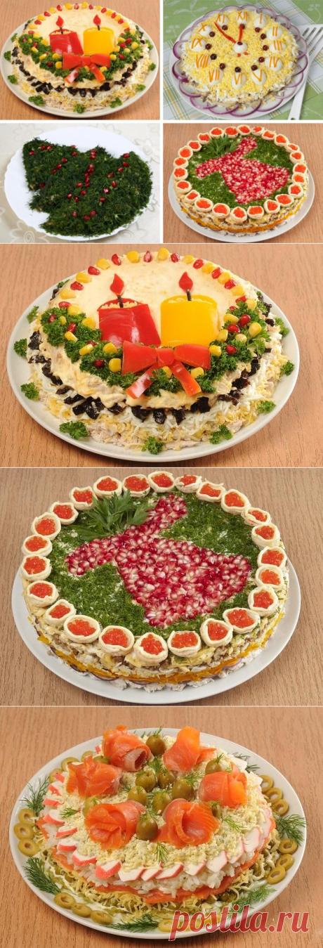 8 нарядных салатов к новогоднему столу