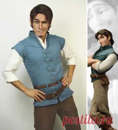 Сила макияжа: удивительное превращение парня в персонажей Disney
