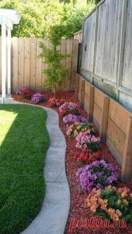 Мягкие волны добавят саду изящества и будут всегда радовать своим видом.