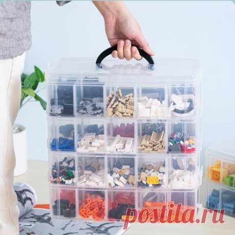 Lego Building Blocks детская коробка для хранения игрушек, пластиковый прозрачный органайзер для ювелирных изделий, коробка для хранения скрапбукинга для инструментов mx92710|Коробки и ящики для хранения| | АлиЭкспресс