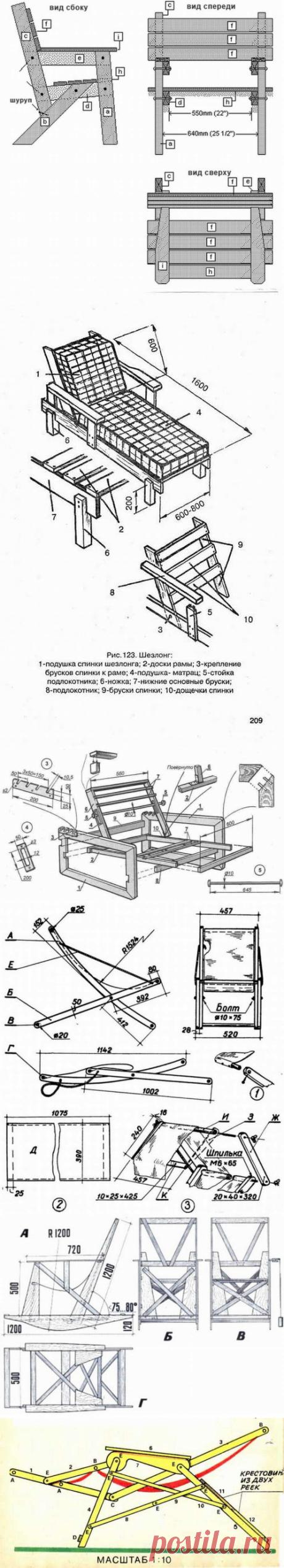 Los esquemas del montaje de las tumbonas y las camillas