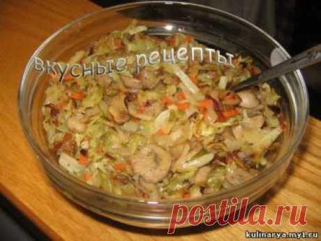 Рецепт приготовления вкусной тушеной капусты с грибами настолько легкий, что любой может приготовить это вкусное блюдо очень быстро