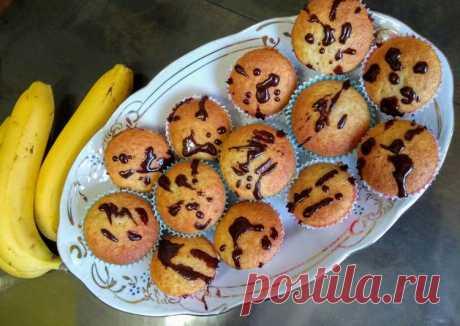 Банановые маффины - пошаговый рецепт с фото. Автор рецепта Ирина . - Cookpad