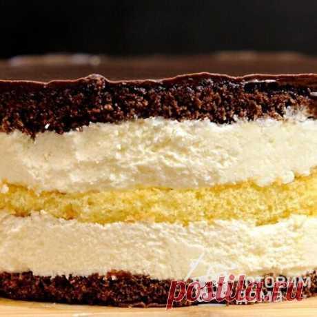 Торт Птичье молоко с кремом из манной каши - пошаговый рецепт с фото на Готовим дома