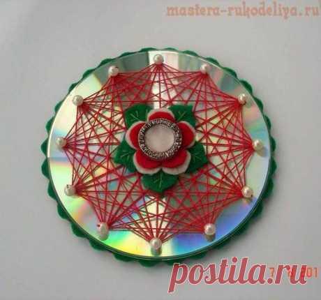 El isohilo: Como bordar el isohilo sobre el CD-disco. El esquema 2 Isohilo: la Historia y los esquemas para el bordado sobre los CD-discos