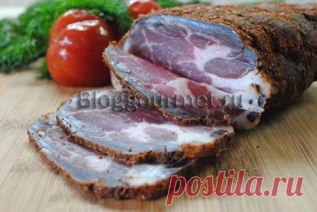 Сыровяленое мясо дома, в холодильнике!
