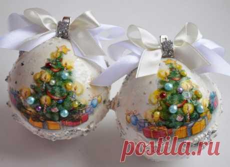 Украшение новогодней елки своими руками: шарики, хлопушки, гирлянды
