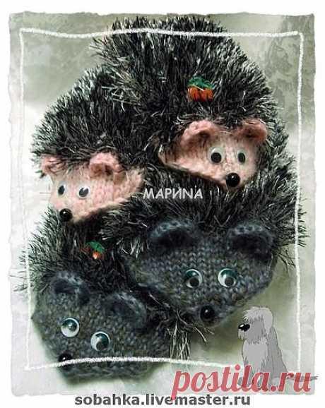 варежки-ЁЖИКИ - собака,собачий пух,варежки,митенки,перчатки,подарок 2012