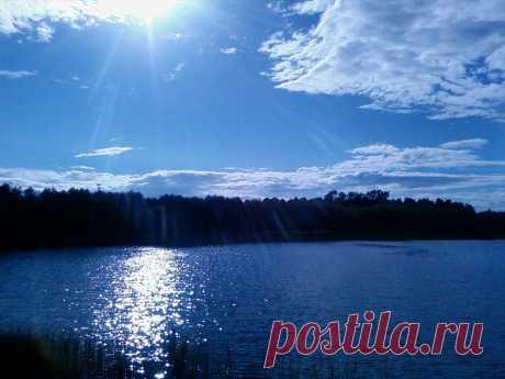 Озеро в Белоруссии...