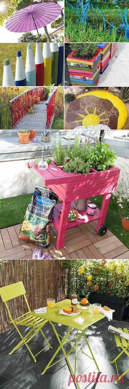 Яркие акценты для сада: 11 приемов + 45 отличных идей от французских декораторов | Дизайн-Ремонт.инфо. Фото интерьеров. Идеи для дома.