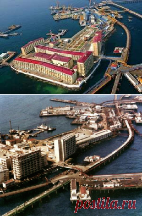 Удивительный город посреди Каспийского моря - на острове из затонувших кораблей