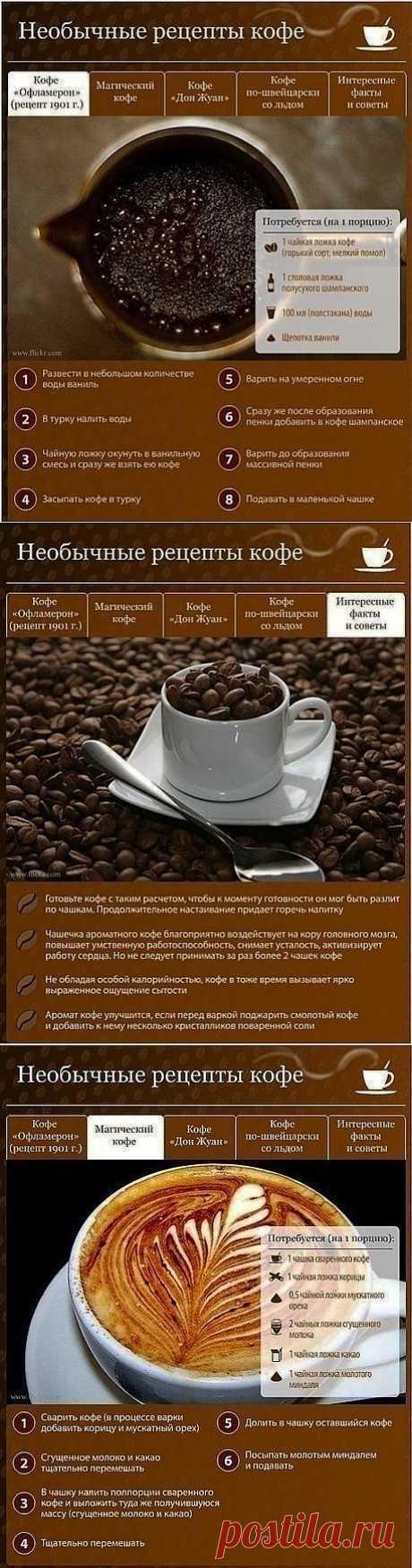 Необычные рецепты кофе.