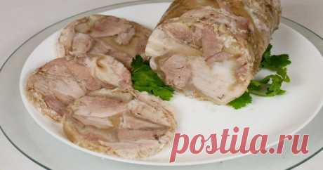 Вкусный мясной зельц на новогодний стол Вкусное мясное блюдо.