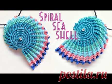 Macrame tutorial - The simple spiral seashell for keychain or pendant - Hướng dẫn thắt vỏ ốc xoắn