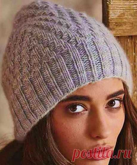 Классическая шапка спицами для женщин из журнала Вог | Вязание Шапок - Модные и Новые Модели