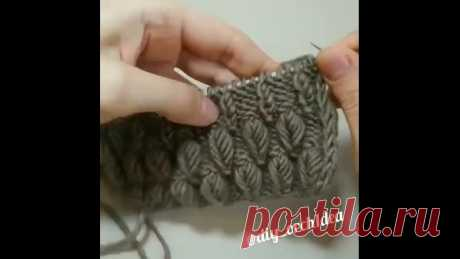 #вязание #схема_скачать #узоры_спицами Интересный узор, который связан спицами, рукодельницам в копилочку