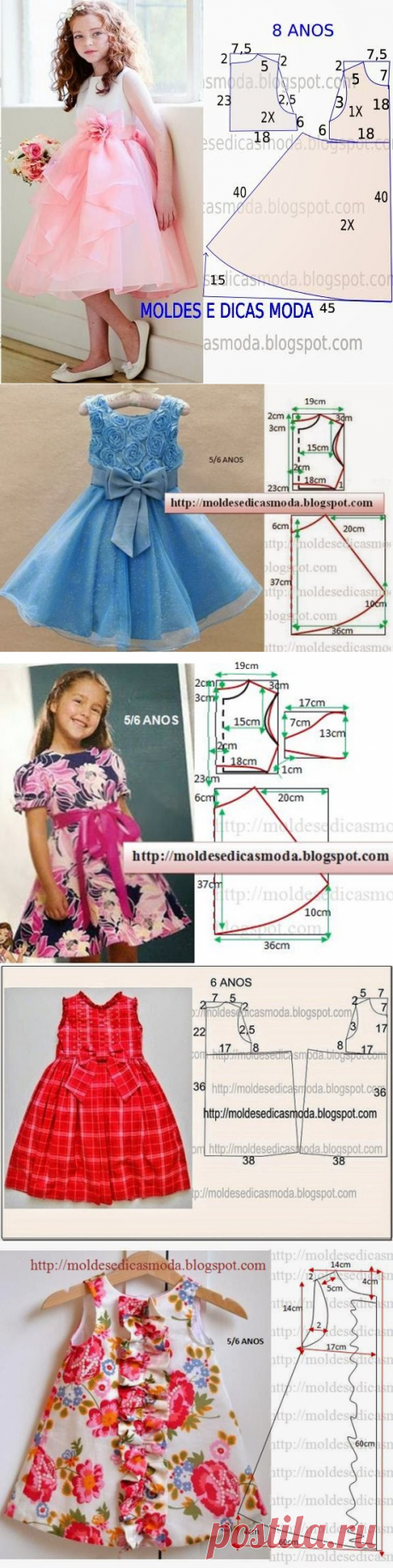 Шьем платья для девочек (5 фото) |