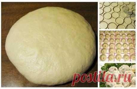 Как приготовить супер тесто на пельмени и вареники - рецепт, ингредиенты и фотографии